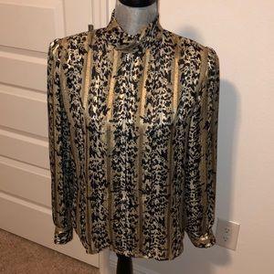 Vintage Nicola longsleeve animal print blouse 10